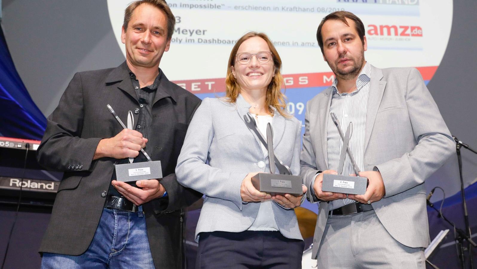 Gruppenbild mit Dame: Jens Meyer, Valeska Gehrke und Florian Zink (v.l.)